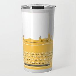 The Lonely Typewriter {mustard} Travel Mug