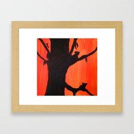 Sunset Koalas Framed Art Print