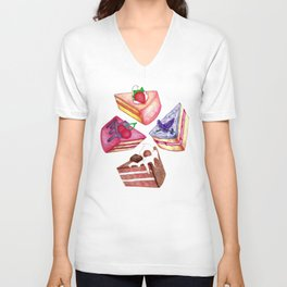 Let Them Eat Cake  Unisex V-Neck