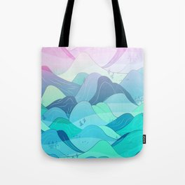 Sunrise at Nishizawa Valley Tote Bag