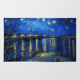 Starry Night Over the Rhone by Vincent van Gogh Rug