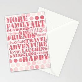 More...Happy Stationery Cards