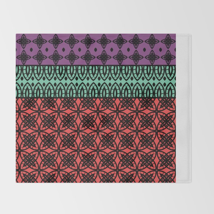 Art Deco Colorful Mosaic 40 Throw Blanket By Annaki Society40 Classy Colorful Throw Blankets