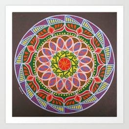 Uluru Dreaming Mandala Art Print