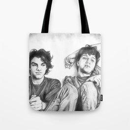 Gene & Dean Ween Graphite Drawing Tote Bag