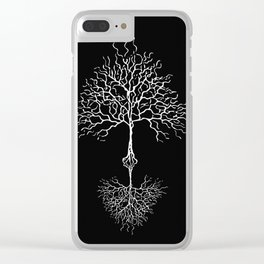Tree of life meaning black Clear iPhone Case