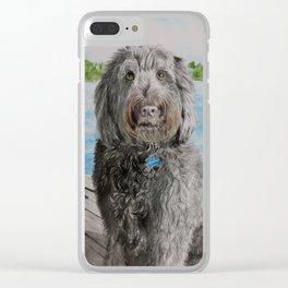 Labradoodle Stewart Clear iPhone Case