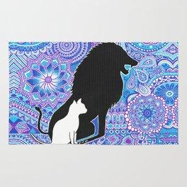 The lion's strength ! Rug