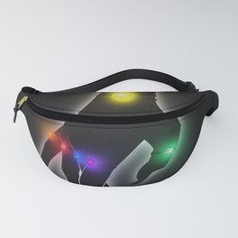 Infinity Stones (Black) Fanny Pack