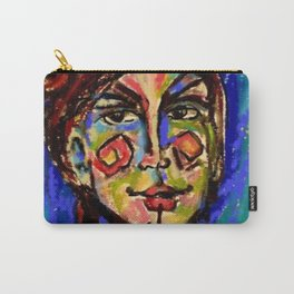 Oil pastel lady  Inspired by the art of Jenny Manno Carry-All Pouch