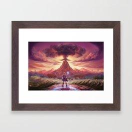 Death Mountian Framed Art Print