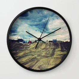 Ominous Skies Wall Clock