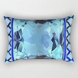 AQUAMARINE MARCH GEM BIRTHSTONE MODERN ART Rectangular Pillow