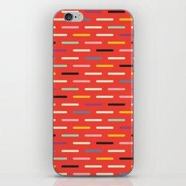 Modern Scandinavian Dash Red iPhone Skin