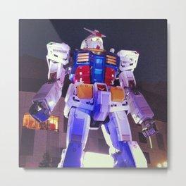 Gundam Robot Tokyo Metal Print
