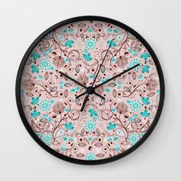 Seamless Paisley Pattern 1 Wall Clock