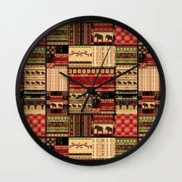 African patchwork. Wall Clock