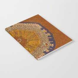 Growing - ginkgo - plant cell embroidery Notebook