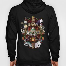 Ghibli Izakaya Print Coloured Hoody