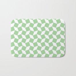 Mint Op Art Pattern Bath Mat