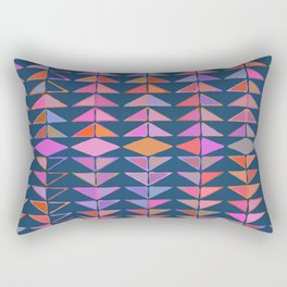 Colorful Triangles Rectangular Pillow