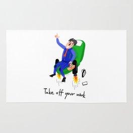 Take off work Rug