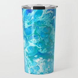 Aqua Ocean Blue Travel Mug