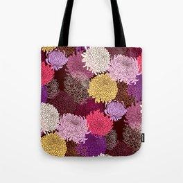 Autumn garden of chrysanthemums Tote Bag