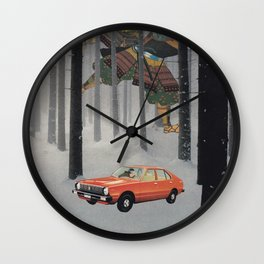 Dreaming in The Red Car Wall Clock