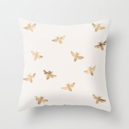 Busy Bees (Sand) Throw Pillow