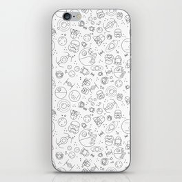 Outta Space white iPhone Skin
