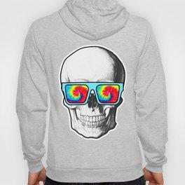 Psychadelic Skull Tiedye glasses Hoody