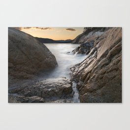 West Vancouver Lighthouse Ocean at Sunser Canvas Print