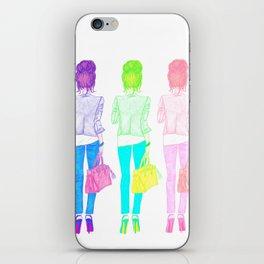 TOP NOTCH TOP KNOT | original fashion illustration iPhone Skin