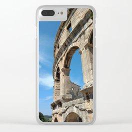 pula croatia ancient arena amphitheatre high Clear iPhone Case