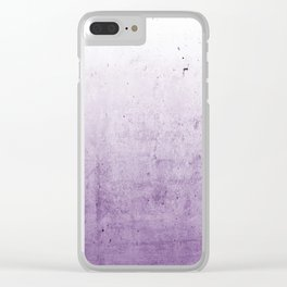 Radiant Orchid Purple Ombre  Clear iPhone Case