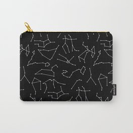 Zodiac Signs | Astrology | Black | Constellations | Stars Carry-All Pouch