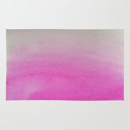 Ombre Watercolor pink Rug