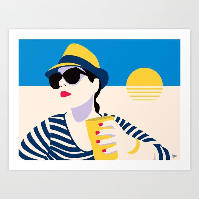 White Ocean Art Print