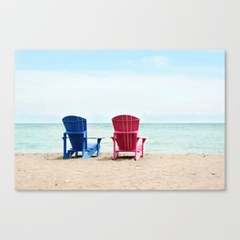 AFE Beach Chairs Canvas Print