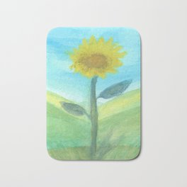 Yellow Flower Bath Mat