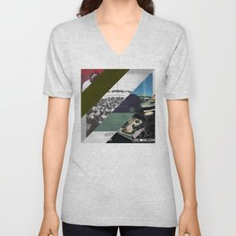 Kendrick lamar cover collage Unisex V-Neck
