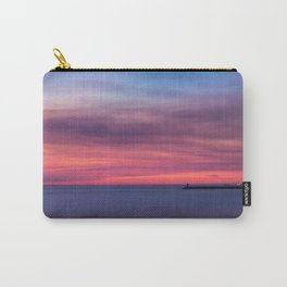 Red sunset over the ocean Carry-All Pouch