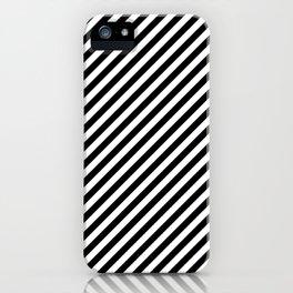 Classic Stripes Black + White iPhone Case