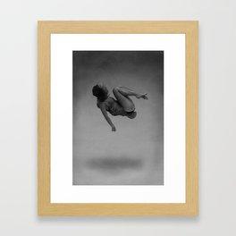 Fuck gravity. Framed Art Print