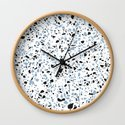 'Speckle Party' Blue Black and White Speckle Terrazzo Pattern by 5mmpaper