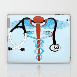 medical caduceus and stethoscope Laptop & iPad Skin