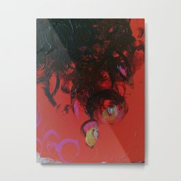 Abstract Dying Flowers Metal Print