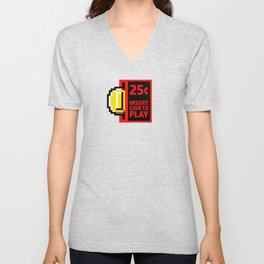 Insert coin to play Unisex V-Neck