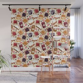 Peanut Butter and Jelly Watercolor Wall Mural